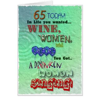 65ste verjaardag, de vrouwen van de Wijn en Wenskaart