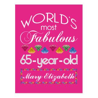 65ste Verjaardag het Meeste Fabelachtig Kleurrijk Briefkaart