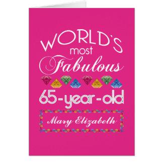 65ste Verjaardag het Meeste Fabelachtig Kleurrijk Wenskaart