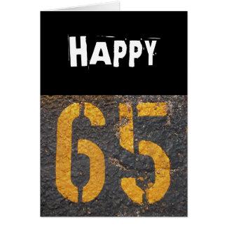 65ste verjaardag-Kaart Wenskaart