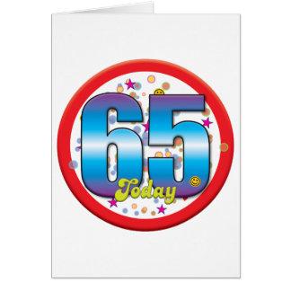 65ste Verjaardag vandaag v2 Wenskaart