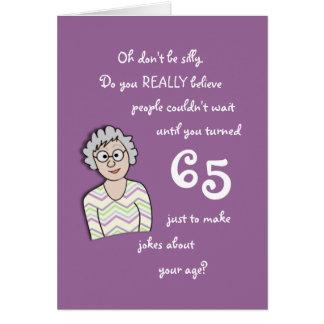 65ste Verjaardag voor haar-Grappige Kaart