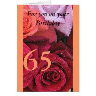 65ste Verjaardag Wenskaart