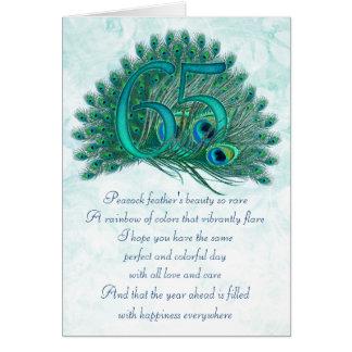 65ste verjaardags decoratieve genummerde kaarten
