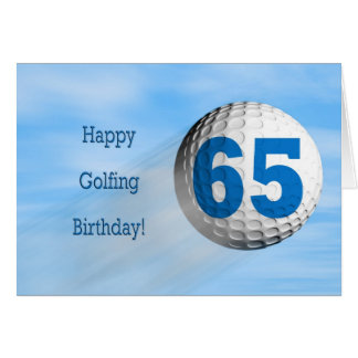 65ste verjaardags golfing kaart