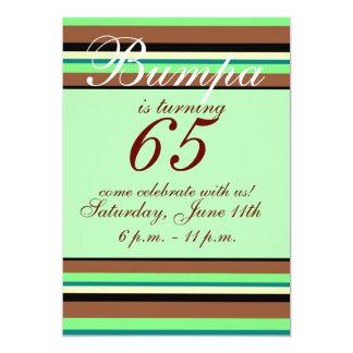 65ste verjaardagsUitnodiging 12,7x17,8 Uitnodiging Kaart