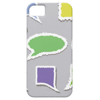 66Speech Bubbles_rasterized Barely There iPhone 5 Hoesje
