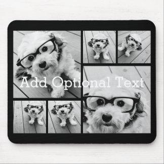 6 de Facultatieve Tekst van de Collage van de foto Muismatten