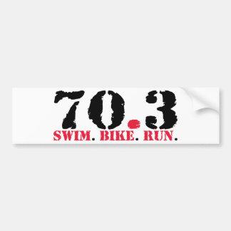 70.3 zwem de Looppas van de Fiets Bumpersticker
