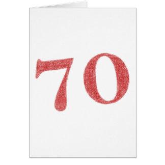 70 jaar verjaardags notitiekaart