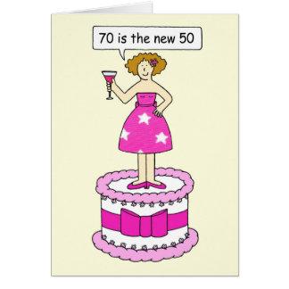 70 zijn nieuwe Vrouwelijke Verjaardag 50 Wenskaart