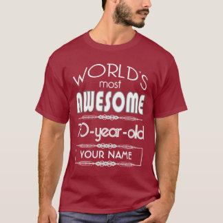 70ste Kastanjebruin van de Werelden van de T Shirt