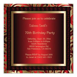 70ste Partij van de Verjaardag   Diy- Tekst Kaart