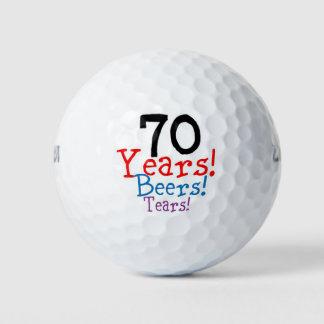 70ste Verjaardag Golfballen