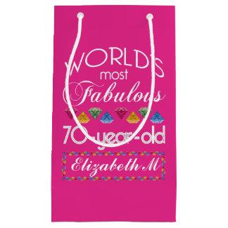 70ste Verjaardag het Meeste Fabelachtig Kleurrijk Klein Cadeauzakje