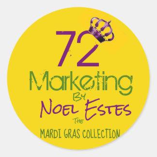 72marketing het collectie van Mardi Gras van de Ronde Sticker