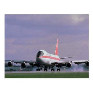 747 land bij Pearson Internationale Luchthaven, Briefkaart