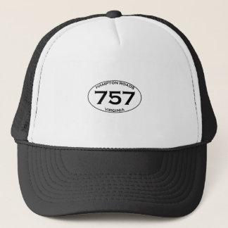 757 het Ovale Logo van Hampton Roads Virginia Trucker Pet