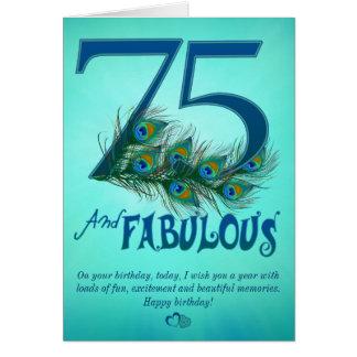 75ste de sjabloonKaarten van de Verjaardag Kaart