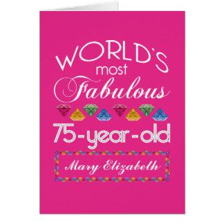 75ste Verjaardag het Meeste Fabelachtig Kleurrijk Briefkaarten 0