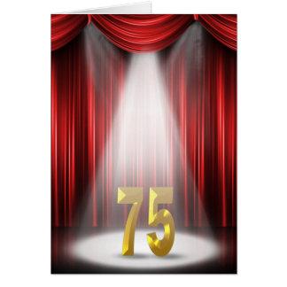 75ste Verjaardag Kaart