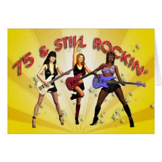 75ste verjaardag met een meisjesband kaart