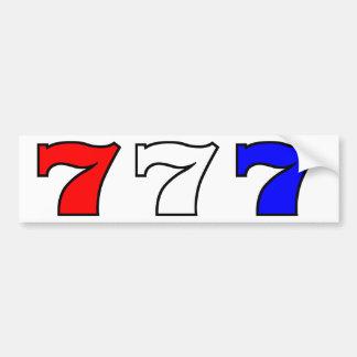 777 rode wit en blauw bumpersticker