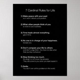7 hoofdRegels voor het Leven Poster