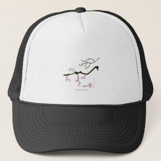 7 sakurabloesems met roze vogel, tony fernandes trucker pet