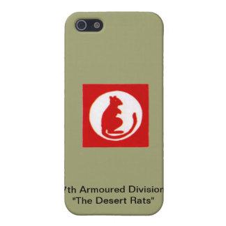 """7de Pantserdivisie de """" Ratten van de Woestijn """" iPhone 5 Hoesjes"""