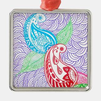 7Lbth3Kr7RtY1B1HFN71MLrV Zilverkleurig Vierkant Ornament