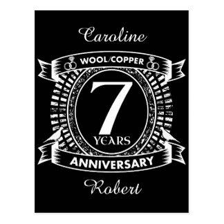 7TH de wolkoper van de huwelijksverjaardag Briefkaart