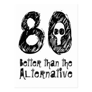 80 dan beter Alternatieve 80ste Grappige Briefkaart