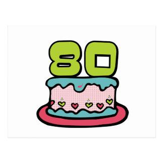 80 de Cake van de Verjaardag van éénjarigen Briefkaart
