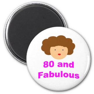 80 en fabelachtig ronde magneet 5,7 cm