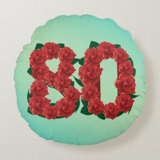 80 nam het de verjaardags tachtigste rood van de rond kussen