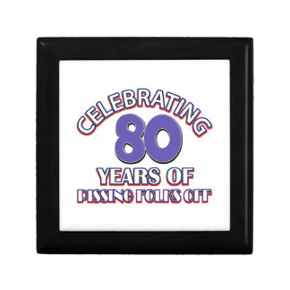 80 verjaardagsDesign Decoratiedoosje