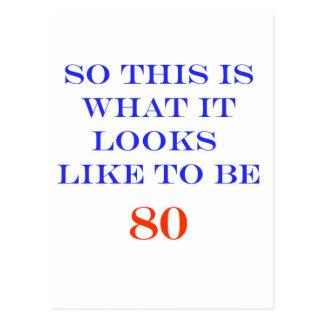 80 wat het als kijkt briefkaart