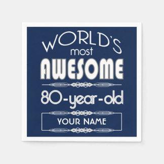 80ste Fabelachtige Donkerblauw van de Werelden van Wegwerp Servetten