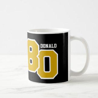 80ste Verjaardag GOUDEN en Zwarte V008A Koffiemok