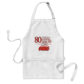 80ste verjaardagsdesign standaard schort