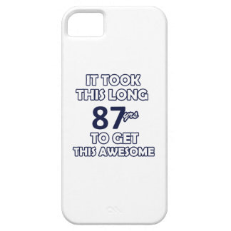 87 verjaardagsontwerp barely there iPhone 5 hoesje