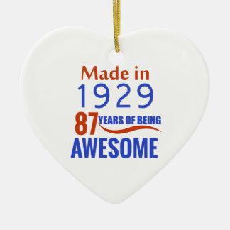 87 verjaardagsontwerp keramisch hart ornament