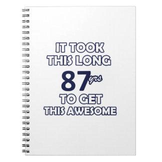 87 verjaardagsontwerp notitieboek
