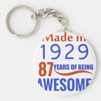 87 verjaardagsontwerp sleutelhanger