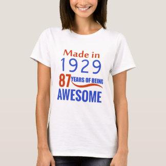 87 verjaardagsontwerp t shirt