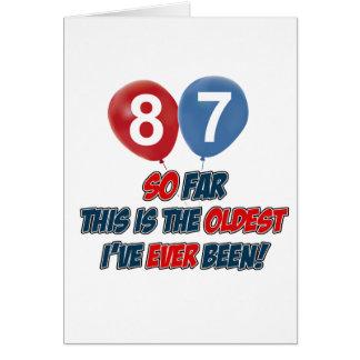 87ste birtday design briefkaarten 0