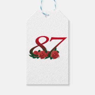 87ste Verjaardag of Nummer 87 Cadeaulabel