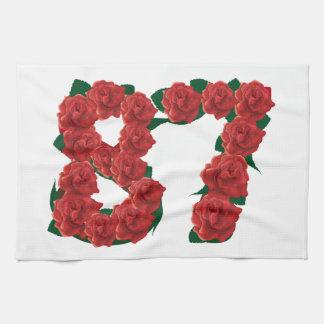 87ste Verjaardag of Nummer 87 de Handdoek van de