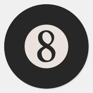 8-bal 8 ronde sticker
